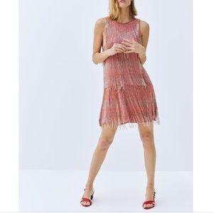 Limited edition Zara fringe dress